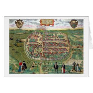 "Mapa de Barth, de ""Civitates Orbis Terrarum"" por G Felicitación"