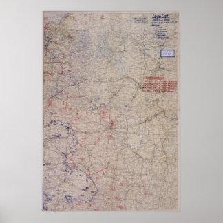 ¡Mapa de batalla alemán WW2! ¡Rusia! Póster