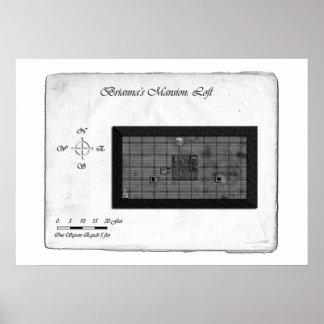 Mapa de batalla de la mansión de Brianna (desván) Poster