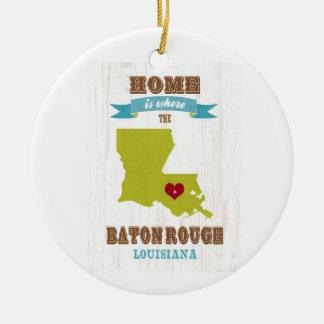 Mapa de Baton Rouge, Luisiana - casero es donde Ornamentos De Reyes Magos