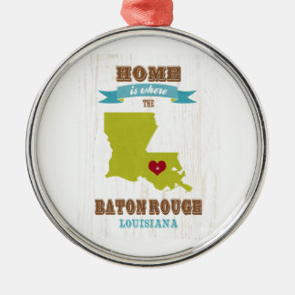 Mapa de Baton Rouge, Luisiana - casero es donde Ornamento Para Reyes Magos