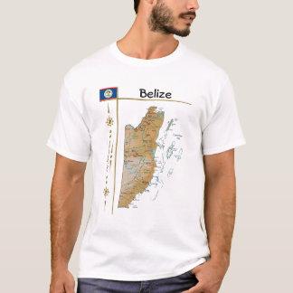 Mapa de Belice + Bandera + Camiseta del título