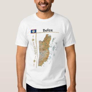 Mapa de Belice + Bandera + Camiseta del título Remeras
