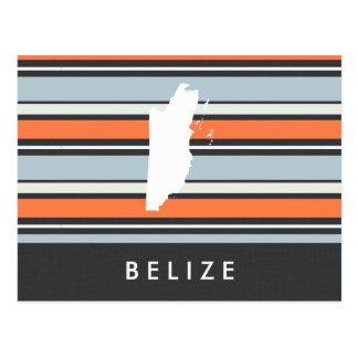 Mapa de Belice: Rayas modernas Tarjetas Postales