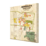 Mapa de Berkeley Impresion De Lienzo