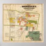 Mapa de Berkeley Póster
