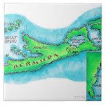 Mapa de Bermudas Azulejo Cuadrado Grande