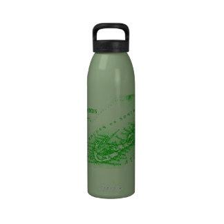 Mapa de Bermudas del vintage, verde Botellas De Agua Reutilizables