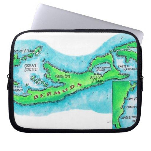 Mapa de Bermudas Funda Computadora