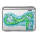 Mapa de Bermudas Funda Para Macbook Air
