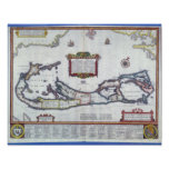 Mapa de Bermudas Impresiones