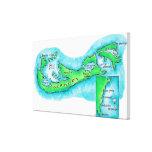 Mapa de Bermudas Impresiones De Lienzo