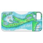 Mapa de Bermudas iPhone 5 Case-Mate Cárcasa