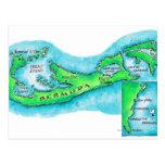 Mapa de Bermudas Postal