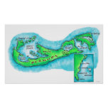 Mapa de Bermudas Póster