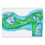 Mapa de Bermudas Tarjeta De Felicitación