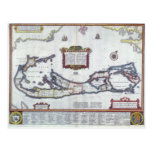 Mapa de Bermudas Tarjetas Postales