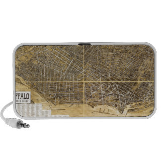 Mapa de Birdseye de Buffalo, Nueva York (1900) .jp Laptop Altavoces
