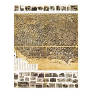 Mapa de Birdseye de Buffalo, Nueva York (1900) .jp Membrete A Diseño