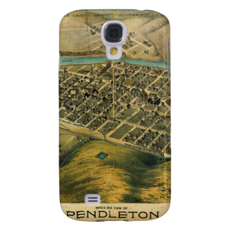 Mapa de Birdseye de Pendleton, Oregon (1890) Funda Para Galaxy S4