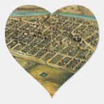 Mapa de Birdseye de Pendleton, Oregon (1890) .jpg Colcomanias Corazon