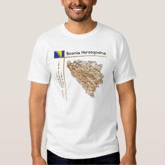 Mapa de Bosnia y Hercegovina + Bandera + Camiseta Remeras