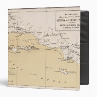 Mapa de bosquejo, montones antiguos, lugares del e