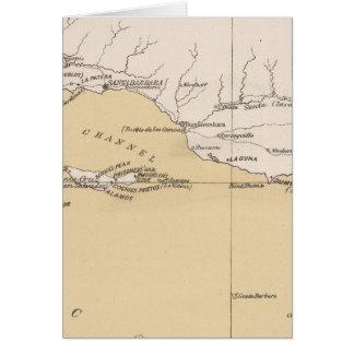 Mapa de bosquejo montones antiguos lugares del e tarjetón