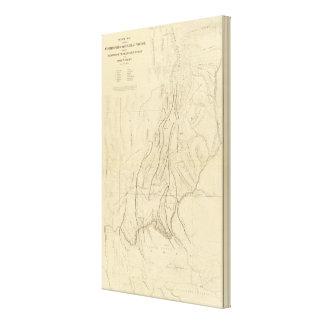 Mapa de bosquejo que muestra las faltas impresión en lona estirada