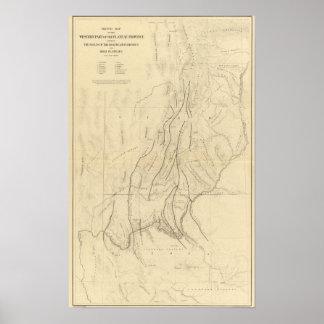 Mapa de bosquejo que muestra las faltas póster