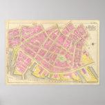 Mapa de Boston 12 Póster