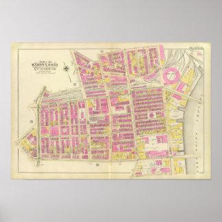 Mapa de Boston 13 Póster