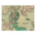 Mapa de Boston - 1838 Impresiones