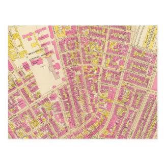 Mapa de Boston 20 Tarjetas Postales