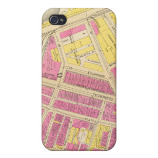 Mapa de Boston 24 iPhone 4/4S Carcasa
