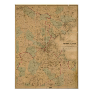 Mapa de Boston 2 Póster