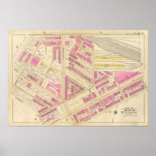 Mapa de Boston 4 Póster