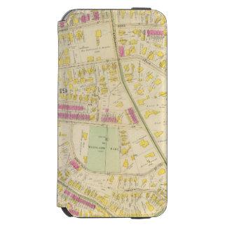 Mapa de Boston 7 Funda Billetera Para iPhone 6 Watson