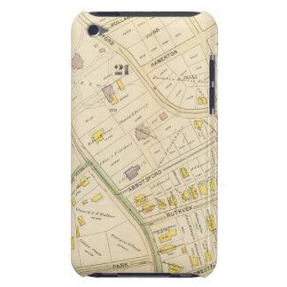 Mapa de Boston 9 iPod Case-Mate Cárcasas