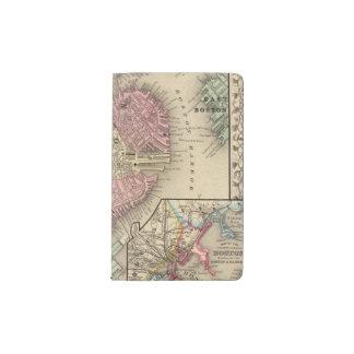 Mapa de Boston de Mitchell Funda Para Libreta Y Libreta Pequeña Moleskine