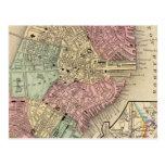 Mapa de Boston de Mitchell Postales