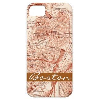 Mapa de Boston del vintage Funda Para iPhone 5 Barely There