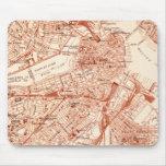 Mapa de Boston del vintage Tapetes De Raton