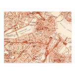 Mapa de Boston del vintage Tarjeta Postal