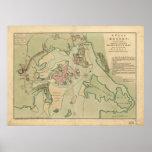 Mapa de Boston, dibujado por el ejército británico Impresiones