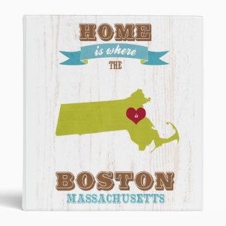 mapa de Boston Massachusetts - casero es donde