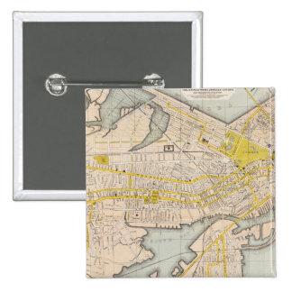 Mapa de Boston Pin Cuadrada 5 Cm