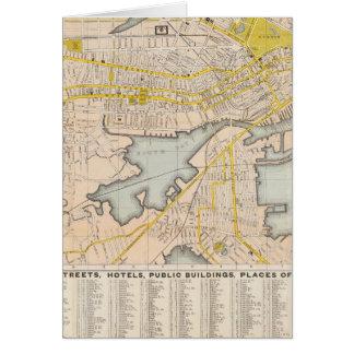 Mapa de Boston Tarjetón