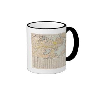 Mapa de Boston Taza De Café