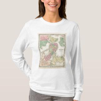 Mapa de Boston y de ciudades adyacentes Playera